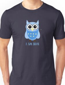 Cute Owl Sweet Nice Girl Girlfirend Woman Puffy Toy  Blue Animal Design Cartoon Gift T-Shirts Unisex T-Shirt