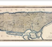 610 This map of the city of New York and island of Manhattan Sticker