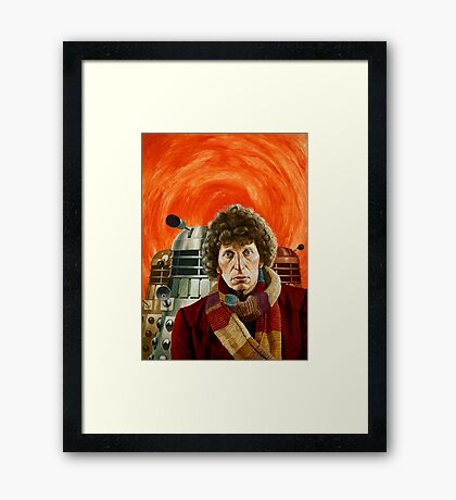 Doctor Who by Terry Oakes Framed Print