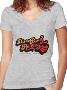 Disco Pants and Haircuts - The Blues Brothers Women's Fitted V-Neck T-Shirt