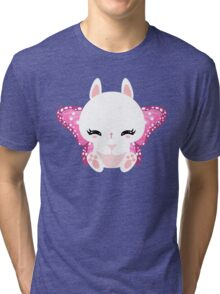 Cute little bunny with a butterfly wings Tri-blend T-Shirt