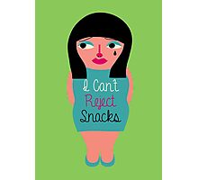 I can't reject snacks Photographic Print