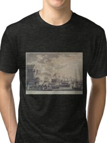 270 Launch of the Steamship Frigate Fulton at New York 29th Oct 1814 NY Tri-blend T-Shirt