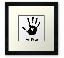 Dark Brotherhood Knows...You've been Bad! Framed Print