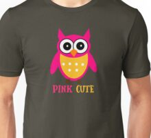 Cute Owl Sweet Nice Girl Girlfirend Woman Pink Puffy Toy Animal Design Cartoon Gift T-Shirts Unisex T-Shirt