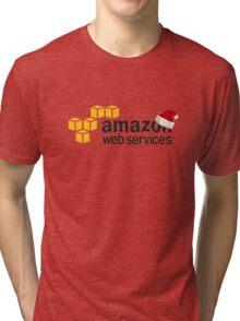 AWS Christmas Logo Tri-blend T-Shirt