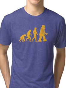Human Evolution Tri-blend T-Shirt