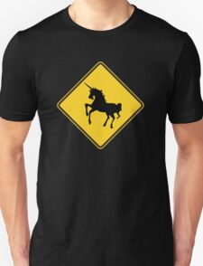 Warning Unicorns T-Shirt