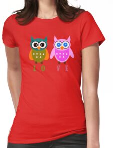 Cute Owl Sweet Nice Girl Girlfirend Woman Puffy Toy Animal Design Cartoon Gift T-Shirts Womens Fitted T-Shirt
