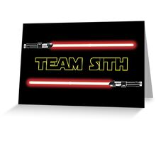 Team Sith Greeting Card