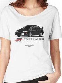 Mitsubishi Lancer GSR Evolution VI Tommi Mäkinen Edition (black) Women's Relaxed Fit T-Shirt