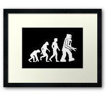 Human Evolution Variant Framed Print