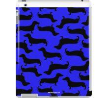 Dachund Sillhouette Blue iPad Case/Skin