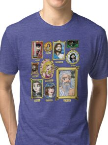 Olympus Family Portrait Watercolor Shirt and Sticker Tri-blend T-Shirt