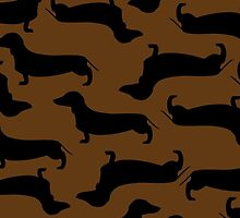 Dachund Sillhouette Brown by WaggSwagg