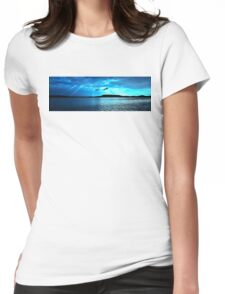 Blue Sunrise waterscape. Gosford. Photo Art. Womens Fitted T-Shirt