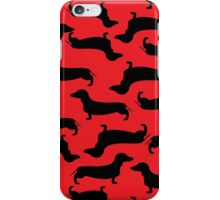 Dachund Sillhouette Red iPhone Case/Skin
