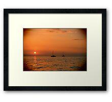 Maui Sail Boats Framed Print