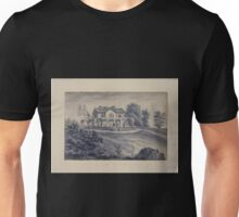 407 Original drawings representing residences of prominent people all with Staten Island NY on the drawn portion Unisex T-Shirt