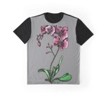 Orchids Watercolor Painting Graphic T-Shirt