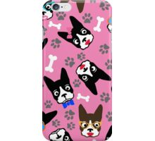 Boston Terrier Funny Faces Pink iPhone Case/Skin