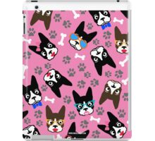 Boston Terrier Funny Faces Pink iPad Case/Skin