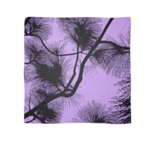 Desert flora, abstract pattern, floral design, black and purple Scarf