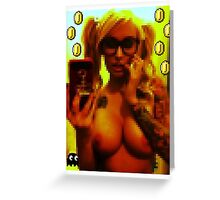 Ghost babylon pixel girl 2 Greeting Card