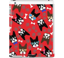Boston Terrier Funny Faces Red iPad Case/Skin