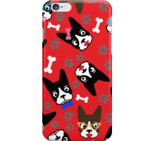 Boston Terrier Funny Faces Red iPhone Case/Skin