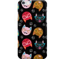 Cat Funny Faces Black iPhone Case/Skin