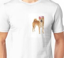Shiba Inu Dog with a flower crown Unisex T-Shirt