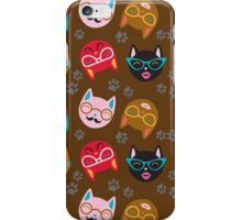 Cat Funny Faces Brown iPhone Case/Skin