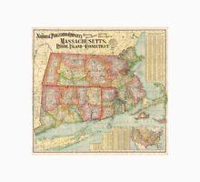 Vintage Map of New England States (1900)  Unisex T-Shirt