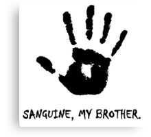 Dark Brotherhood - Sanguine, My Brother. Canvas Print