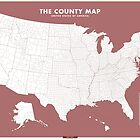 the County Map - red by Chaney Swiney