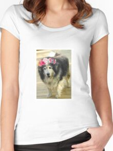 Leo from Old Friends Senior Dog Sanctuary Women's Fitted Scoop T-Shirt