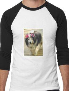 Leo from Old Friends Senior Dog Sanctuary Men's Baseball ¾ T-Shirt