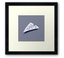 Paper Airplane 15 Framed Print