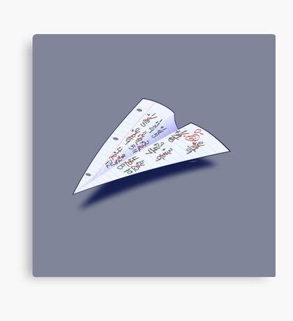 Paper Airplane 15 Canvas Print
