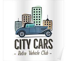 Vintage Car Label Poster