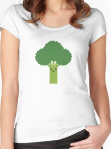 Steamed Broccoli  Women's Fitted Scoop T-Shirt