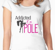 Addicted to Pole Women's Fitted Scoop T-Shirt