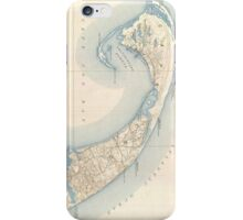 Vintage Map of Lower Cape Cod iPhone Case/Skin