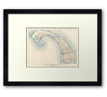 Vintage Map of Lower Cape Cod Framed Print