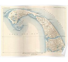 Vintage Map of Lower Cape Cod Poster