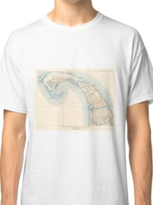 Vintage Map of Lower Cape Cod Classic T-Shirt