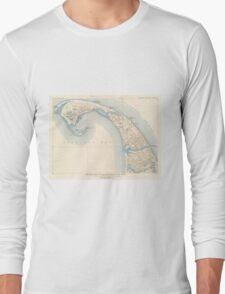 Vintage Map of Lower Cape Cod Long Sleeve T-Shirt