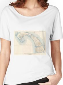 Vintage Map of Lower Cape Cod Women's Relaxed Fit T-Shirt