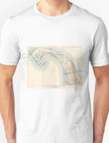 Vintage Map of Lower Cape Cod Unisex T-Shirt